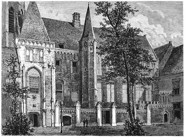 De Abdij te Middelburg. 1875