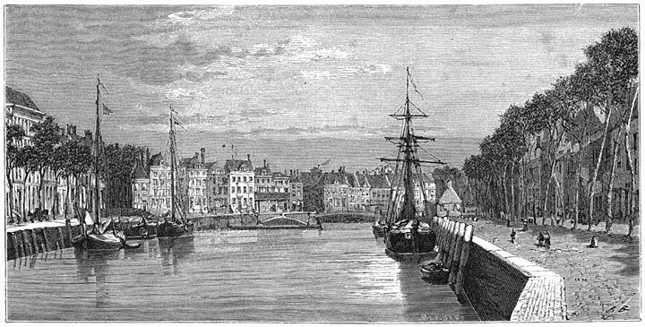 De Rotterdamsche kade te Middelburg. 1875