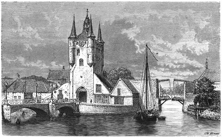 De Zuiderhavenpoort te Zierikzee. 1875