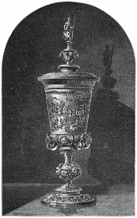 De beker van Maximiliaan te Veere. 1875