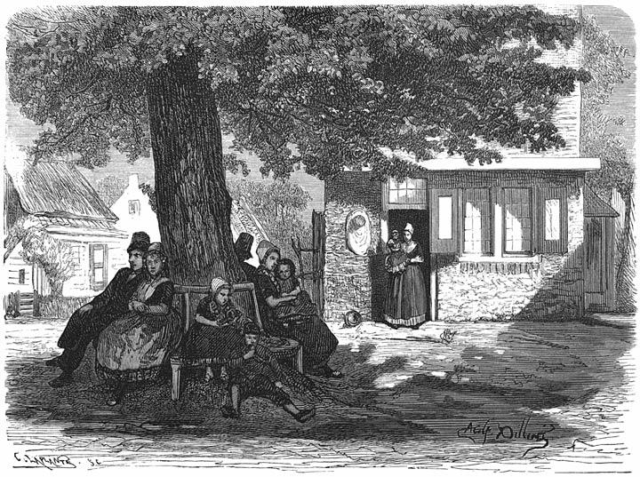 De klapbank. 1875