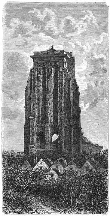 De oude toren te Zierikzee. 1875