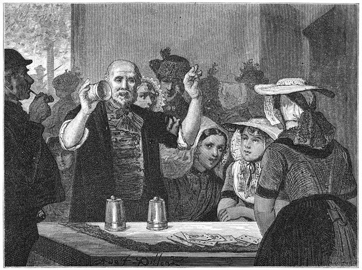 Een goochelaar te Kruiningen. 1875