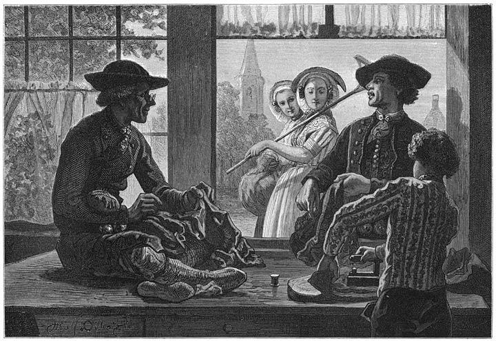 Een kleermaker te Krabbendijke. 1875