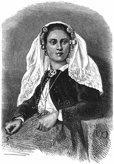 Een meisje uit Tholen. 1875