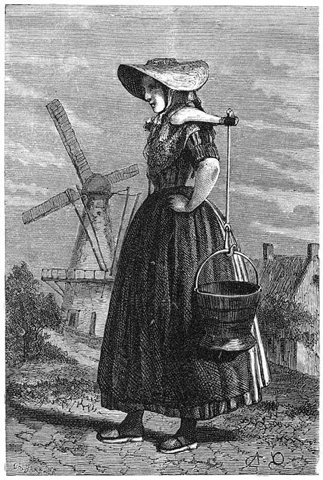 Een melkmeisje. 1875