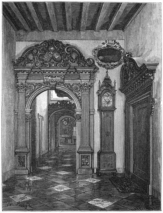 Een oud-hollandsch binnenhuis te Middelburg. 1875