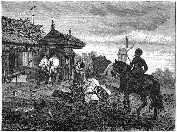 Een smidse te Kruiningen. 1875