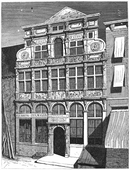 Het huis de Steenrots te Middelburg 1875