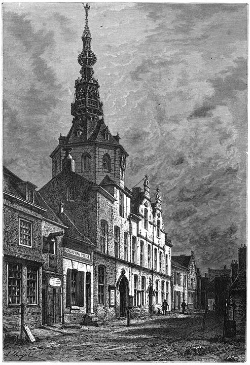 Het stadhuis te Zierikzee. 1875
