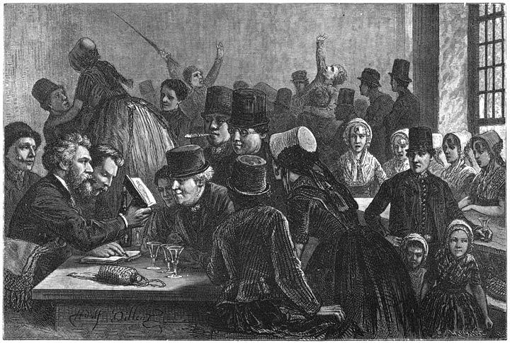 In de herberg te Vrouwepolder. 1875