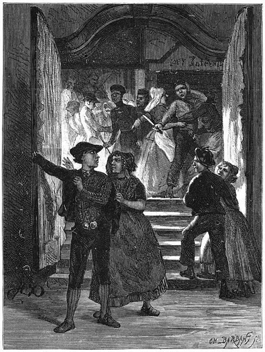In de herberg. 1875