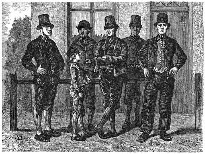 Lijkdienaars. 1875