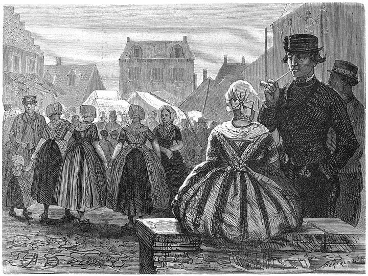 Op de kermis te Axel. 1875