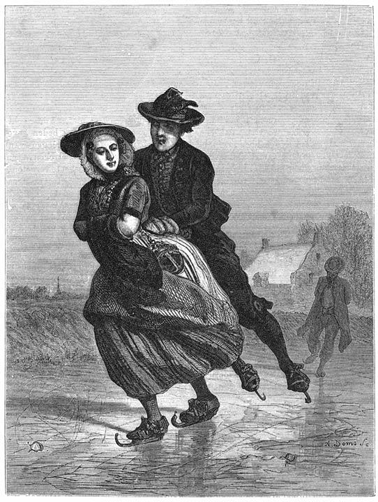 Op het ijs. 1875
