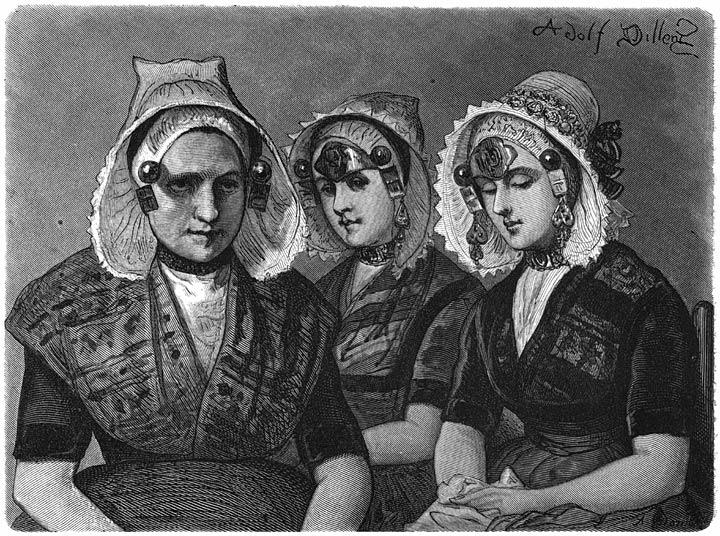 Vrouwen van Zuid-Beveland. 1875