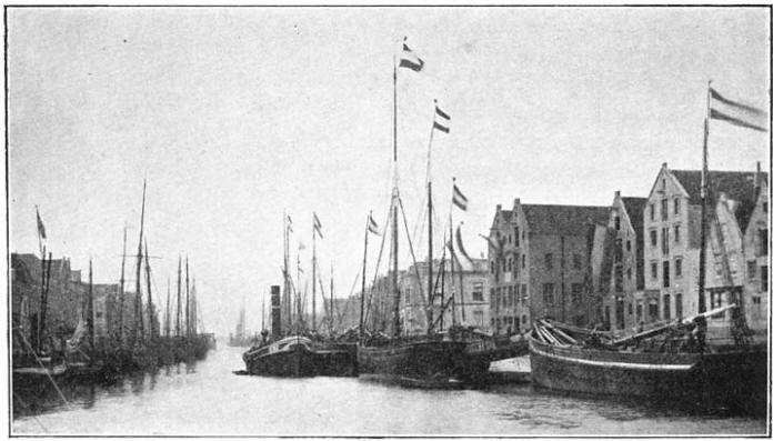 De haven van Maassluis. (ca. 1905)