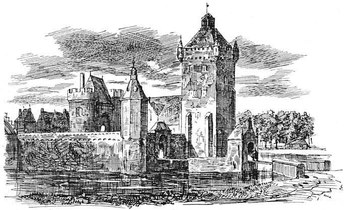 Het kasteel Batenstein te Vianen (1607).