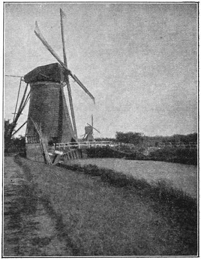 Watermolens bij den Kinderdijk.