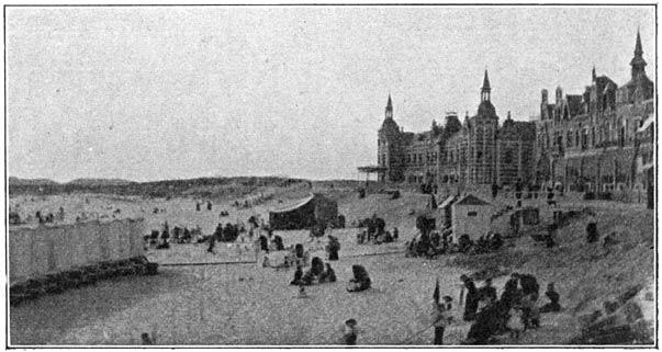 Het strand en badhuis te Vlissingen.