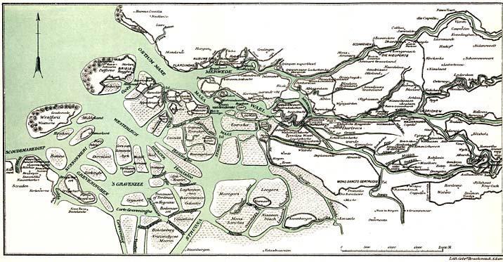 HET ZUID-HOLLANDSCHE DELTAGEBIED OMSTREEKS 1800
