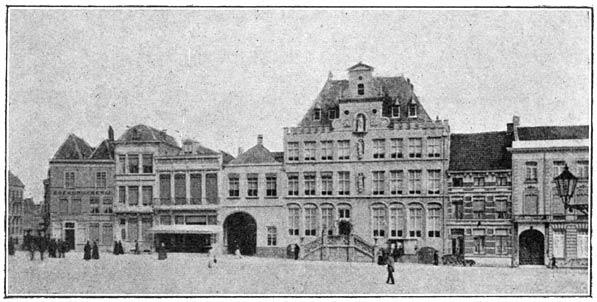 Tegenwoordige Groote markt te Bergen-op-Zoom.