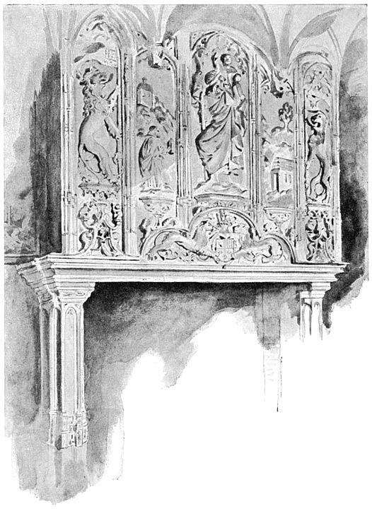Schoorsteenmantel uit de 15e eeuw, afkomstig uit het markiezenhof te Bergen-op-Zoom.