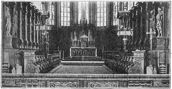 Priesterkoor der kerk te Wouw.