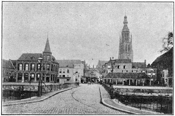 Postkantoor en vischmarkt te Breda.